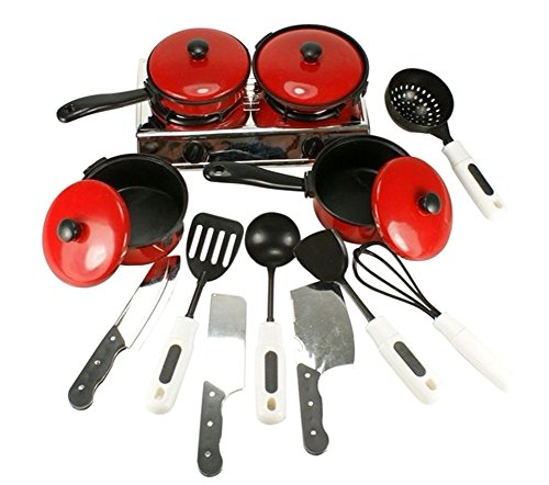 GogoForward 13pcs/set Kids Play House Toy Kitchen Utensils Pots Cooking Food Dishes Fun Cookware (Play Pots And Pans Set compare prices)
