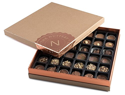 Premium Classic Fresh Miami Beach Milk Chocolate Truffles in a Decorative Fancy Gift Box Individually Assorted 36 piece by The Nuttery NY