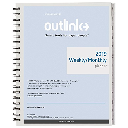 (AT-A-GLANCE 2019 Weekly & Monthly Refill, 8-1/2
