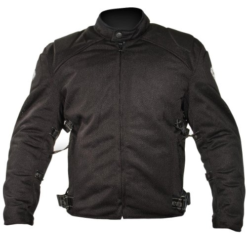Xelement CF2157 Mens Black Mesh Motorcycle Jacket with Level-3 Advanced Armor - (Mens Advanced Xelement Motorcycle)