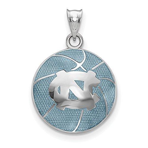 - Collegiate University of North Carolina Sterling Silver Univ. of North Carolina Domed Enameled Basketball Pendant