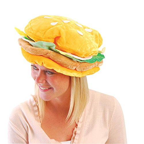 US Toy One Plush Fabric Hamburger Hat]()