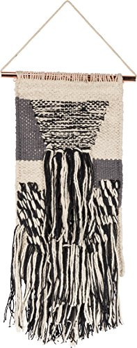 "Macramé Woven Wall Hanging, Small ""Journey"" Style, Fringe Tassel Banner - BOHO Shabby Chic Bohemian Decor - Apartment Dorm Living Room Bedroom Baby Nursery Art Accent – 6"