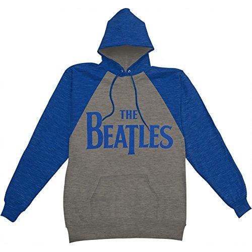 Beatles Men's Raglan Logo Hooded Sweatshirt XX-Large Heather by Bravado
