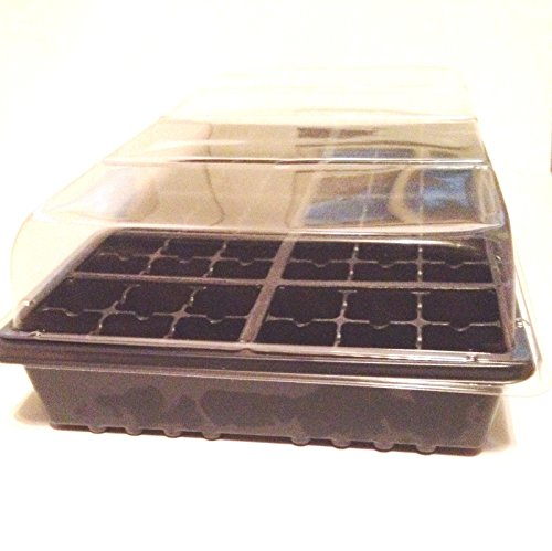 5 Seed Starting Kits Growing Kits 3pc Kit with Flat, Cell...