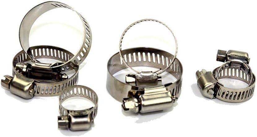60pcs AFfeco Edelstahl Schlauchschelle 6-38mm Range Schneckengetriebe Kraftstoffleitung Clamp