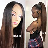 Ombre 360 Lace Frontal Wig Pre Plucked Bleached Knots Straight Lace Front Human Hair Wigs for Black Women 150% Density 2 Tones 1B/30
