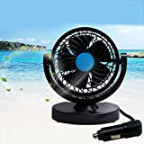 12v fan portable - Anpress 12V Car Mini Electric Fan 360 Rotating Strong Wind Car Fan Car Air Conditioner Low Noise Portable Auto Air Cooling Fan