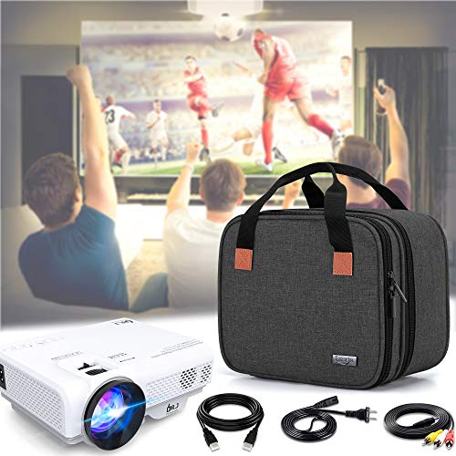 Luxja Carrying Bag for DR.J Mini Projector, Portable Case for Mini Projector and Accessories (Fits Most Major Mini Projectors), Black