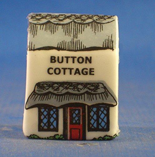(Porcelain China Thimble -- Miniature House Shape -- Button Cottage)