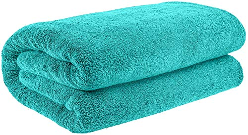 40×80 Inches Jumbo Size, Thick and Large 650 GSM Bath Sheet Cotton, Luxury Hotel & Spa Quality, Absorbent and Soft Decorative Kitchen and Bathroom Turkish Towels, Aqua Ocean