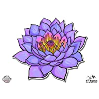 "GT Graphics Purple Lotus Beautiful - 3"" Vinyl Sticker - for Car Laptop I-Pad Phone Helmet Hard Hat - Waterproof Decal"