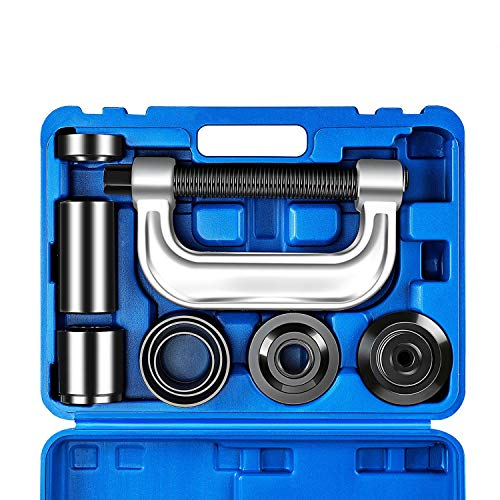 OrionMotorTech Heavy Duty Ball Joint Press & U Joint Removal Tool Kit with 4x4 Adapters, for Most 2WD and 4WD Cars and Light Trucks (BL)