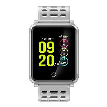 TF2 Fitness Tracker Tensiómetro Pulsómetro Actividad tracker Bluetooth Wireless Smart Watch IP 68 para Mode, deportes, Business y fitness, ...