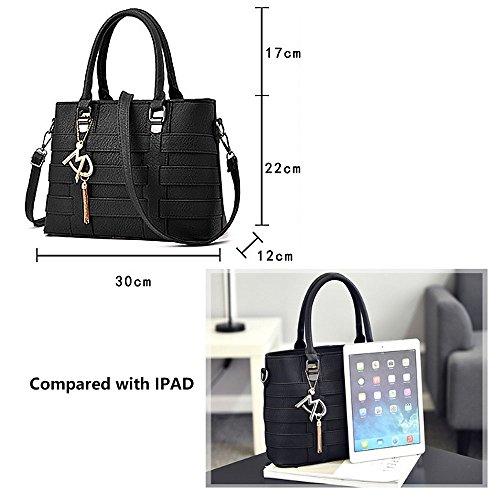 Handbag Satchels Handle Purse Deep Bag Messenger Shoulder Women Tibes Bags Blue Totes Clutches 4gHcq6cy5F