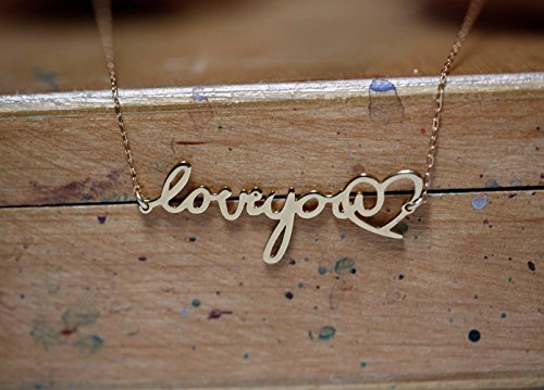 Gold Signature Necklace, Custom Gold Signature, Name Necklaces, Handwritten Name Necklace by Capucinne
