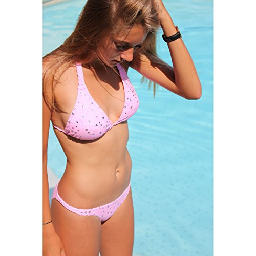 Braquita bikini rosas estrella Rosa
