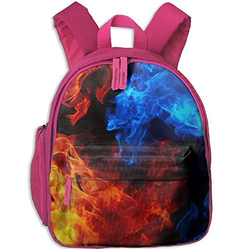 Children 3d Printed Fire Hot School Backpack Gift For Baby Boys & Girls Bookbags School Travel Outdoor Bagpack With Pocket For Toddlers - Fire Foothills
