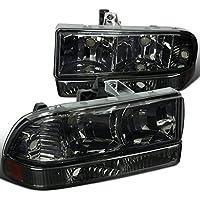 Chevy S10 Blazer Pickup Smoke Headlights+Bumper Amber Reflector Lamps