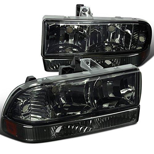 kup Smoke Headlights+Bumper Amber Reflector Lamps (Chevy S10 Pickup Headlights)