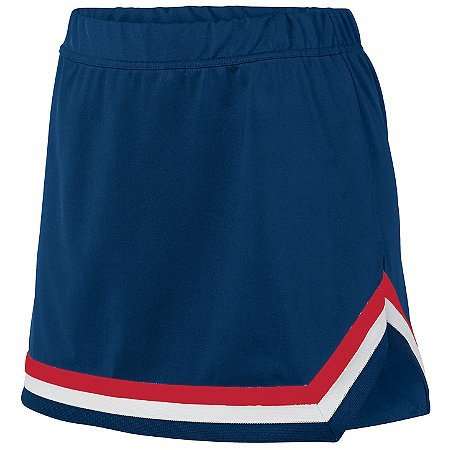 STYLE 9146 GIRLS PIKE SKIRT (SMALL, Navy/red/white)