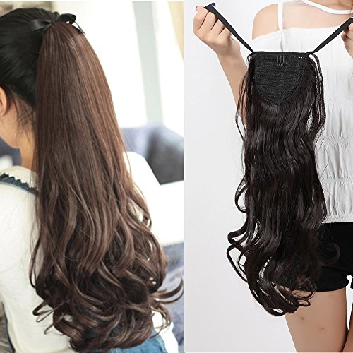 Binding Tie Up Synthetic Ponytail Clip In Hair Extensions