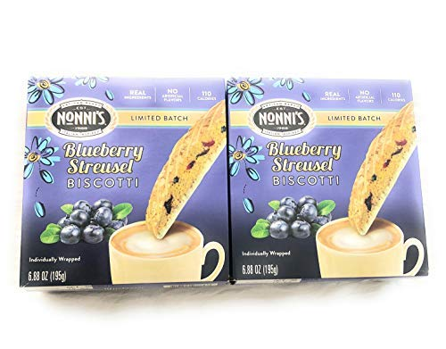 - Limited Edition - Nonni's Blueberry Streusel Biscotti - 2 Boxes