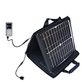 Gomadic SunVolt Powerful and Portable Solar Charger suitable for the RCA M4104 M4108 Digital Music Player - Incredible charge speeds for up to two devices