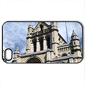 Belfast Cathedral - Case Cover for iPhone 4 and 4s (Ancient Series, Watercolor style, Black) by icecream design