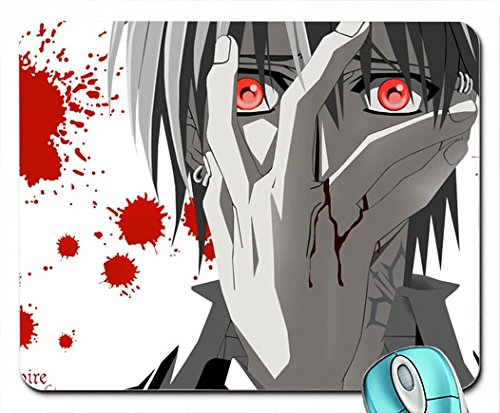 blood splatter vampire knight splatter anime anime boys selective coloring  mousepad computer mouse pad