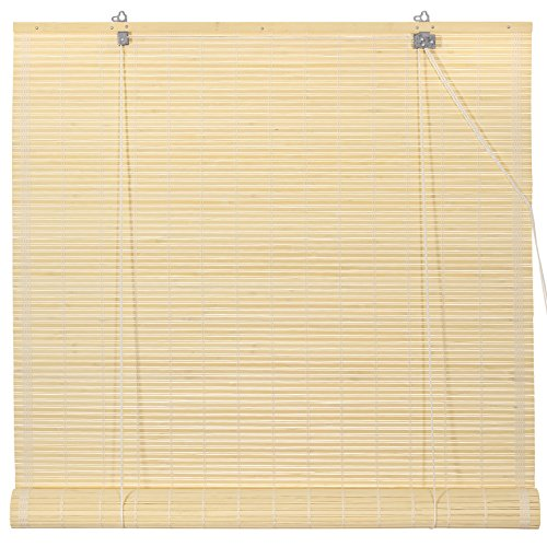 72 Shade Bamboo Matchstick - Oriental Furniture Bamboo Roll Up Blinds - Natural - (72 in. x 72 in.)
