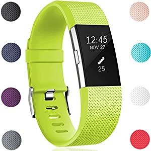 GEAK Replacement Bands for Fitbit Charge 2, Fitbit Charge2 Wristbands,Large,Lime