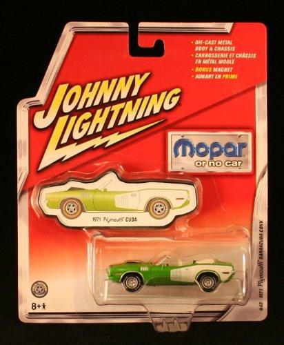 Johnny Lightning Mopar Or No Car 1971 Plymouth Barracuda Convertible Green #42