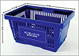 Blue Shopping Baskets 17 x 11.5 x 9 with Plastic
