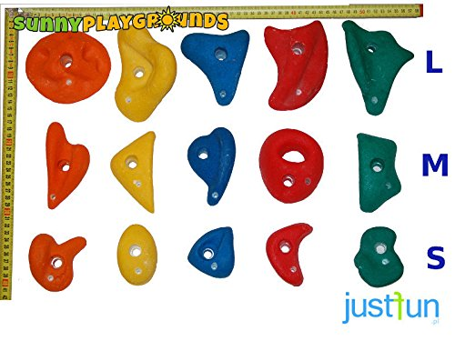 CLIMBING ROCKS for KIDS SET of 5 SIZE SMALL Multicolor Rocks- Outdoor and Indoor Playground Set Accessories for Kids