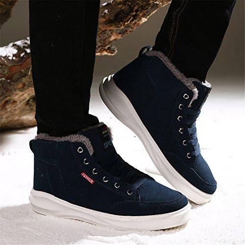 SAGUARO® Hombres ocasional invierno del Alto-top zapatos de terciopelo calidas botas Zapatillas