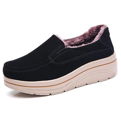 Mujeres Zapatillas De Deporte Planas Mocasines Mocasines Barco Oxford Piel De Felpa Primavera OtoñO Mujer Plataformas Mujer CuñAs Zapatos: Amazon.es: ...