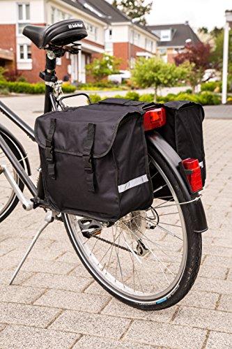 Büchel Fahrrad-Doppeltasche zur Befestigung am Gepäckträger, schwarz, 81515002