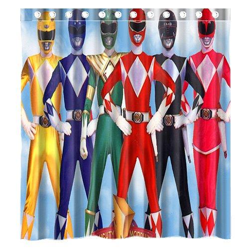 Custom Anime Power Rangers Waterproof Bathroom Shower Curtain Polyester Fabric Size 66 X 72 Amazoncouk Clothing