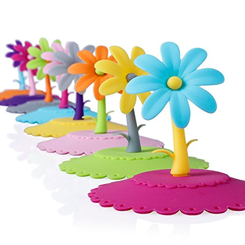 Astra shop Sun Flower,set of 8 Pack,anti-dust Airtight Seal Silicone Cup Mug Cover,diy Covers,food-grade Silicone Drink Covers,spillproof,leakproof,keeps Beverages Hot or Cold, Silicone Cup Lid (Canned Milk Cover compare prices)
