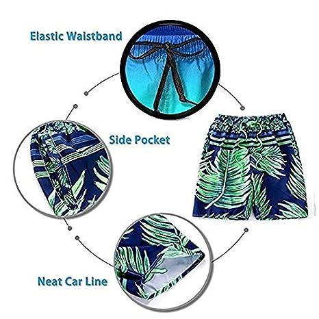 JIAU HUA Washington and USA Flag Mens Quick Dry Swim Trunks Casual Beach Shorts with Lining Surf Shorts