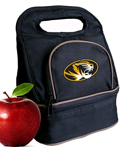 Broad Bay University of Missouri Lunch Bag Mizzou Lunch Box - 2 Sections! -