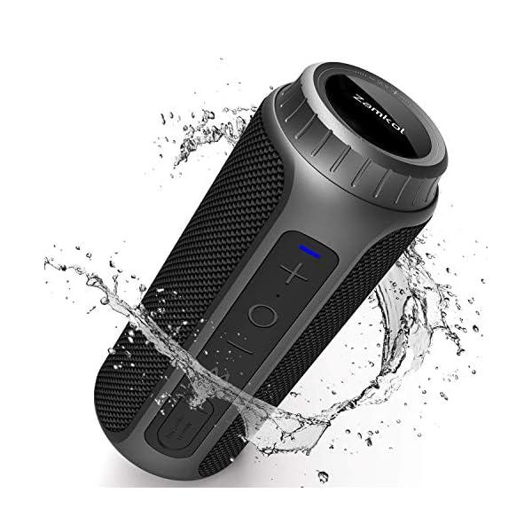 Zamkol Cassa Bluetooth 5.0, 30W HD Stereo Altoparlante Portatile con Bassi Potenti, IPX6 Waterproof Speaker bluetooth… 1 spesavip