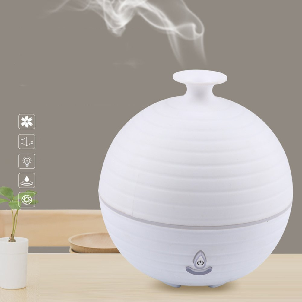 yanQxIzbiu Essential Oil Diffuser Ultrasonic Colorful LED Cute Aromatherapy Essential Oil Diffuser Home Humidifier - White for Bedroom Living Room Study Yoga Spa