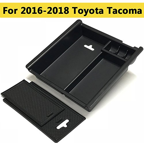 Center Console Organizer Tray,Armrest Storage Box Insert Container Fit toyota tacoma 2016-2018,Car Console Organizer to Expand Storage - Product Center Information