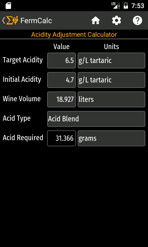 Fermcalc winemaking calculator: amazon. Ca: appstore for android.