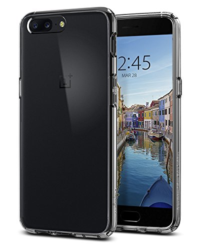Spigen Ultra Hybrid OnePlus 5 Case with Air Cushion Technology and Hybrid Drop Protection for OnePlus 5 (2017) - Crystal Clear