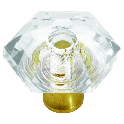 Hickory Hardware P31-CA3 1/2-Inch Crystal Palace Knob, Crysacrylic Polished Brass by Hickory Hardware (Crystal Ca3)