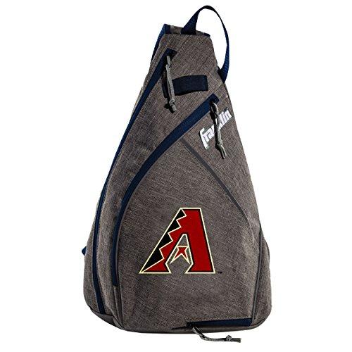 Franklin Sports Arizona Diamondbacks Slingback Baseball Crossbody Bag - Shoulder Bag w/Embroidered Logos - MLB Official Licensed Product
