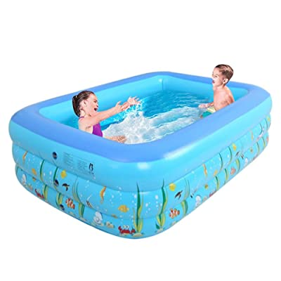 luckycyc Inflatable Pools,1.3M Three-Ring Baby Inflatable Printing Swimming Pool PVC Playing Bathing Pool for Family Children.: Home & Kitchen